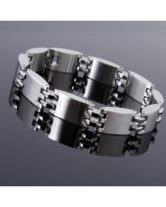 Stainless Steel Mens ID Bracelet with Name Engraving