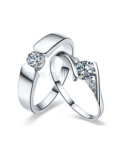 Unique His and Hers Promise Rings Set for 2 with Engraving