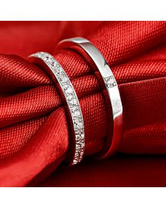 Personalized Index Finger Couples Elegant Engagement Rings for 2