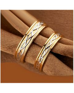 Gold Plated Silver Best Wedding Bands for Him and Her