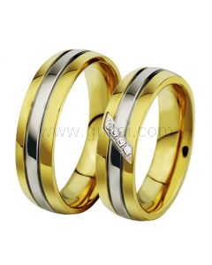 Gold Plated Titanium Engagement Rings for Men and Women