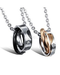 Customized Cute Couples Pendants Jewelry Gift Set for 2