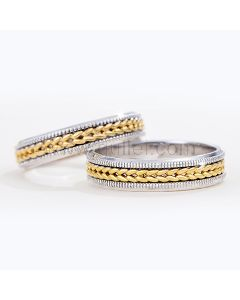 Engravable 14K Gold Plated Silver Rings for Soulmates