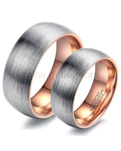 Outside Engraved Matching Tungsten Promise Rings Set for 2