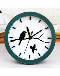 Birds Decorative Small Wooden Table Clock Gift