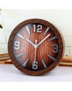 Creative Small Wooden Table Clock Housewarming Gift