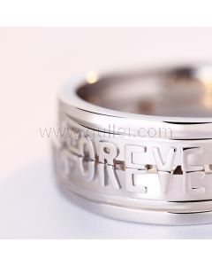 Forever Engraved Matching Soulmates Expandable Wedding Rings Set
