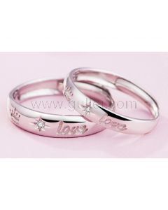 King Queen Crown Matching Expandable Wedding Rings Set
