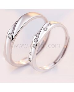 Sterling Silver Promise Rings Birthday Gift Set