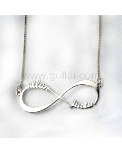 Infinity Couple Name Necklace K Gold Sterling Silver