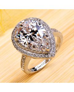 5.5 Carats Pear Cut Diamond Celebrity Engagement Ring