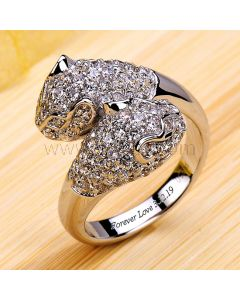 1ct Diamond Panther Wedding Ring for Her