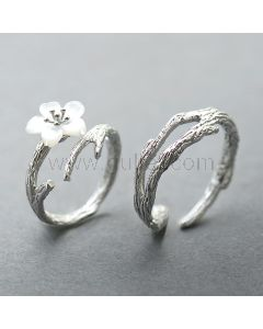 Matching Couple Rings Jewelry Gift (Adjustable Size)