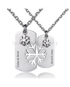 Custom Engraved Couple Pendants Jewelry for Him and Her