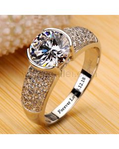 2 Carats Diamond Celebrity Engagement Ring for Her
