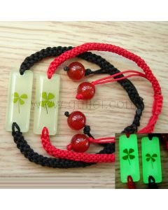 Personalized Glowing Clover Couples Rope Bracelets Set for 2
