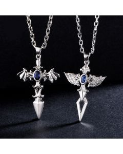 2 PCS Angel Wings Relationship Couple Anniversary Jewelry Gift
