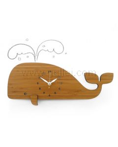 Beautiful Whale Shaped Wall Clock for Kids Bedroom