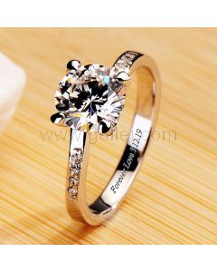 1.5 Carat Diamond Womens Promise Ring with Name