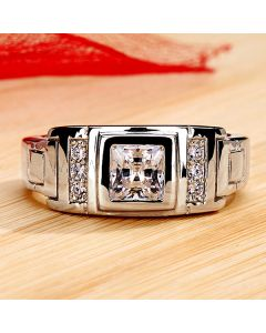 1 Ct Men's Diamond Engagement Band with Custom Engraving